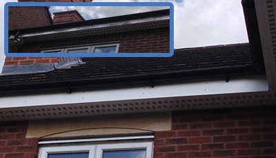 gutter soffit fascias cleaned in mansfield nottinghamshire