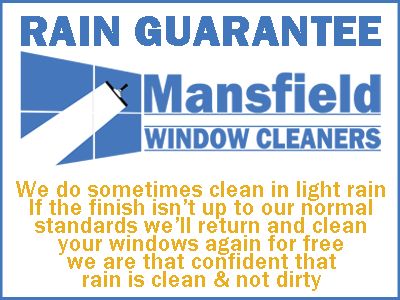 mansfield window cleaners rain guarantee